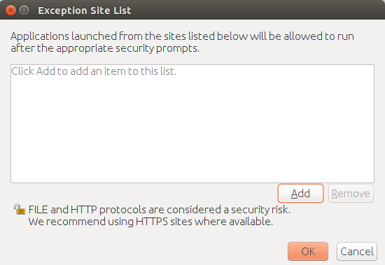 Exception Site List